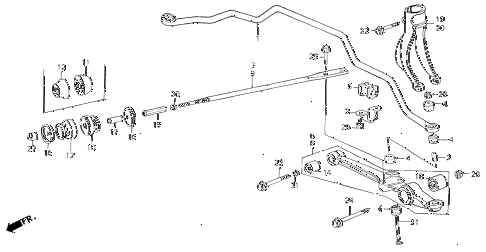 1990 LEGEND LS 4 DOOR 5MT FRONT LOWER ARM diagram