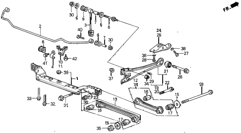 1989 LEGEND ST 4 DOOR 4AT REAR LOWER ARM (89-90) diagram