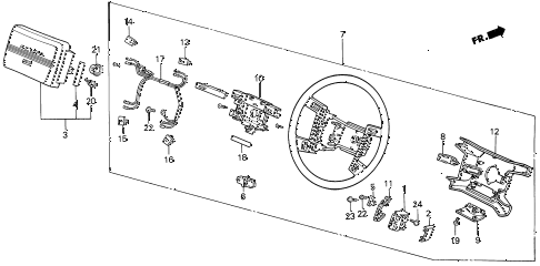 1988 LEGEND LS 4 DOOR 5MT STEERING WHEEL (88 LS) (89-90) diagram