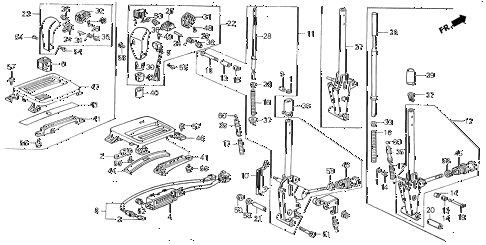 1989 LEGEND ST 4 DOOR 4AT SELECT LEVER diagram