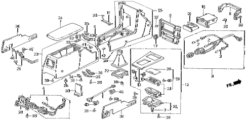 1989 LEGEND ST 4 DOOR 5MT CONSOLE (88-90) diagram
