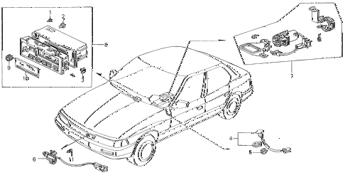 1988 LEGEND LS 4 DOOR 5MT A/C SENSOR diagram
