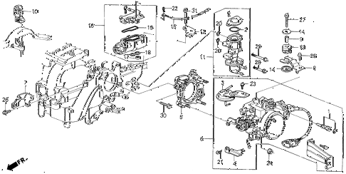 1989 LEGEND L 4 DOOR 5MT THROTTLE BODY (88-90) diagram