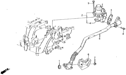 1990 LEGEND LS 4 DOOR 5MT AIR SUCTION VALVE (88-90) diagram