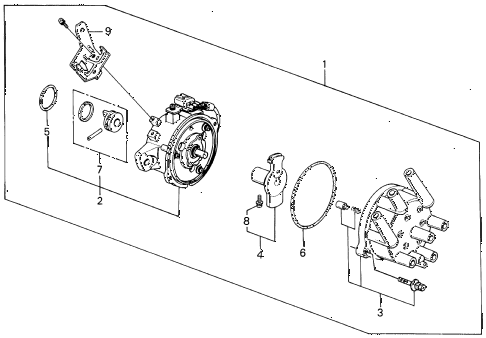 1990 LEGEND L 4 DOOR 5MT DISTRIBUTOR (TEC) (88-90) diagram