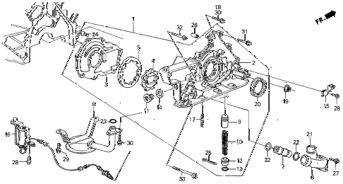 1989 LEGEND ST 4 DOOR 5MT OIL PUMP diagram