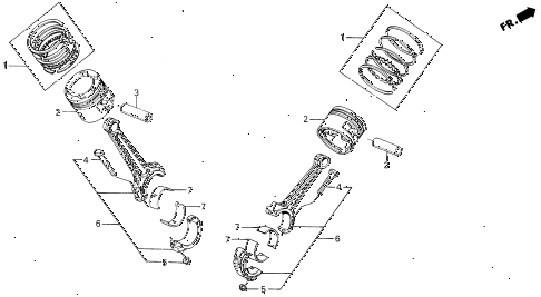 1989 LEGEND L 4 DOOR 5MT PISTON - CONNECTING ROD diagram