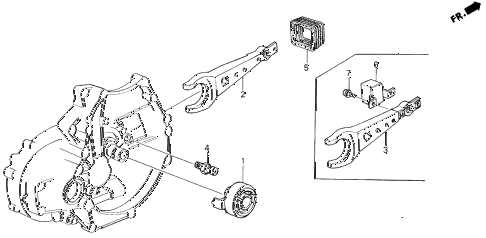 1988 LEGEND L 4 DOOR 5MT MT CLUTCH RELEASE diagram