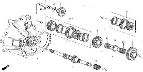 1988 LEGEND ST 4 DOOR 5MT MT MAINSHAFT diagram