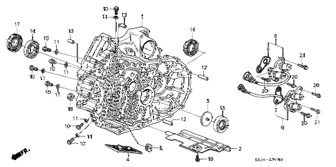 1990 LEGEND LS 2 DOOR 5MT AT TORQUE CONVERTER HOUSING diagram