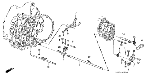 1987 LEGEND LS 2 DOOR 4AT AT THROTTLE VALVE SHAFT diagram