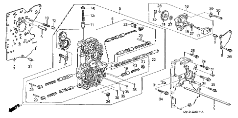 1987 LEGEND STD 2 DOOR 4AT AT MAIN VALVE BODY diagram