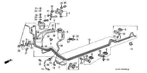 1987 LEGEND L 2 DOOR 5MT FUEL PIPE diagram