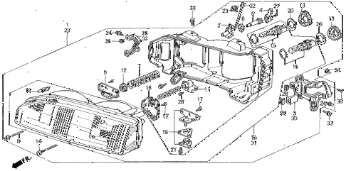 1990 LEGEND L 2 DOOR 5MT HEADLIGHT diagram