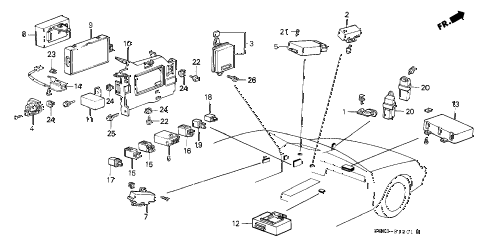 1990 LEGEND LS 2 DOOR 5MT RELAY - CONTROLLER diagram