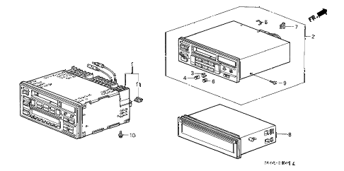 1988 LEGEND STD 2 DOOR 5MT RADIO TUNER diagram