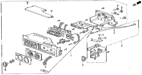 1990 LEGEND LS 2 DOOR 5MT HEATER CONTROL diagram