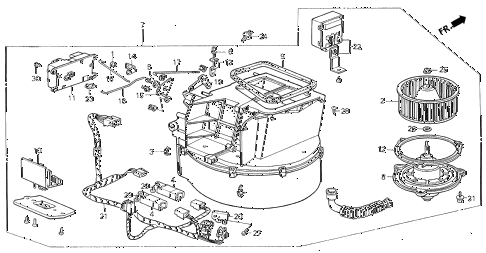 1988 LEGEND LS 2 DOOR 4AT HEATER BLOWER diagram