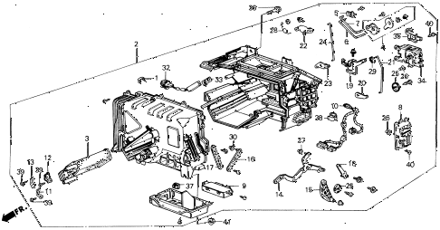 1989 LEGEND L 2 DOOR 5MT HEATER UNIT diagram