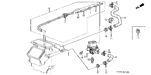 1990 LEGEND STD 2 DOOR 5MT WATER VALVE diagram