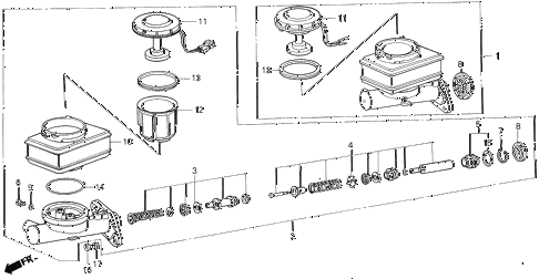 1989 LEGEND STD 2 DOOR 5MT BRAKE MASTER CYLINDER (STD) diagram