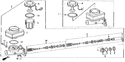 1988 LEGEND LS 2 DOOR 5MT BRAKE MASTER CYLINDER (L,LS) diagram