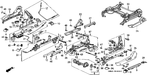 1988 LEGEND STD 2 DOOR 5MT FRONT MANUAL SEAT ADJUSTER diagram