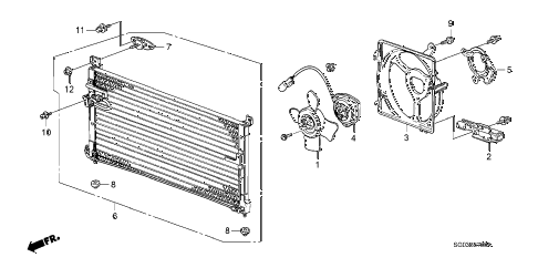 1989 LEGEND LS 2 DOOR 5MT A/C AIR CONDITIONER (CONDENSER) diagram