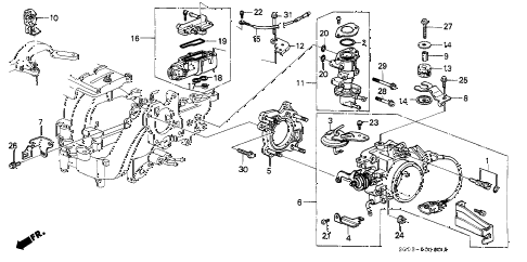 1989 LEGEND LS 2 DOOR 4AT THROTTLE BODY diagram