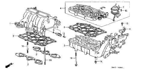 1989 LEGEND LS 2 DOOR 4AT INTAKE MANIFOLD diagram