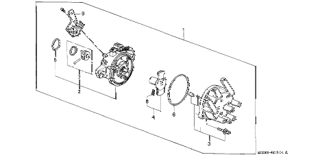 1988 LEGEND LS 2 DOOR 5MT DISTRIBUTOR (TEC) diagram