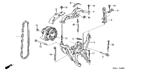 1989 LEGEND L 2 DOOR 5MT ALTERNATOR BRACKET - BELT diagram