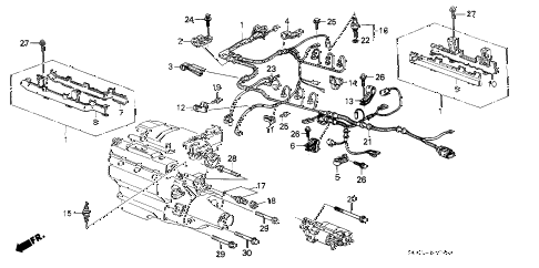 1988 LEGEND L 2 DOOR 5MT ENGINE WIRE HARNESS diagram