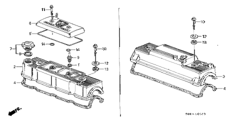 1987 LEGEND LS 2 DOOR 4AT CYLINDER HEAD COVER diagram