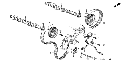 1988 LEGEND LS 2 DOOR 5MT CAMSHAFT diagram