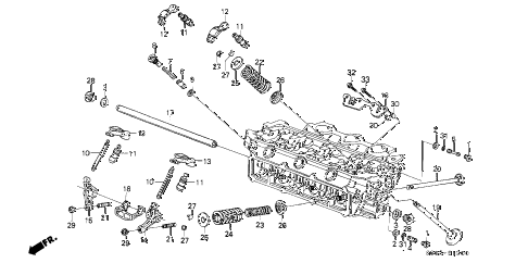 1989 LEGEND LS 2 DOOR 4AT VALVE - ROCKER ARM (FR.) diagram