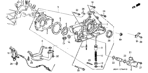 1989 LEGEND LS 2 DOOR 4AT OIL PUMP diagram