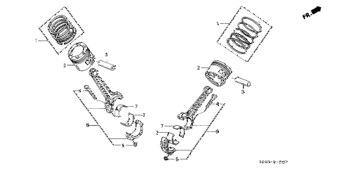 1987 LEGEND LS 2 DOOR 4AT PISTON - CONNECTING ROD diagram