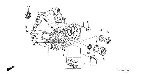 1987 LEGEND LS 2 DOOR 5MT MT CLUTCH HOUSING diagram