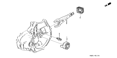 1989 LEGEND L 2 DOOR 5MT MT CLUTCH RELEASE diagram