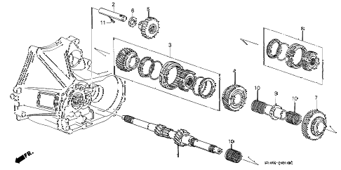 1987 LEGEND L 2 DOOR 5MT MT MAINSHAFT diagram