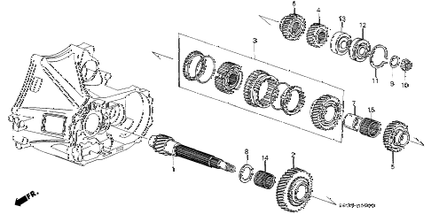 1988 LEGEND LS 2 DOOR 5MT MT COUNTERSHAFT diagram