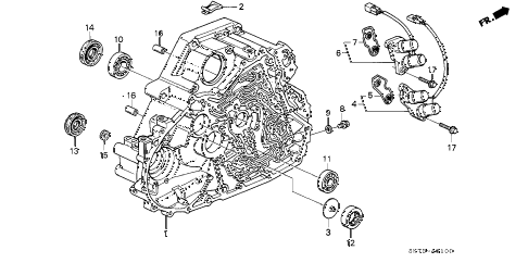 1992 INTEGRA LS 3 DOOR 4AT AT TORQUE CONVERTER HOUSING diagram