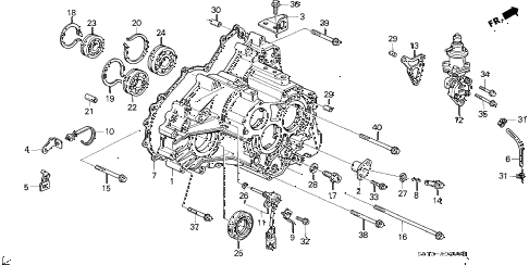 1990 INTEGRA GS 3 DOOR 4AT AT TRANSMISSION HOUSING diagram