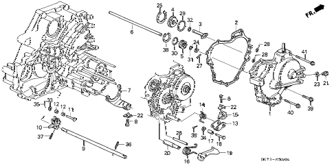 1991 INTEGRA LS 3 DOOR 4AT AT RIGHT SIDE COVER diagram