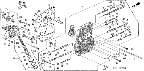 1993 INTEGRA LS 3 DOOR 4AT AT MAIN VALVE BODY diagram