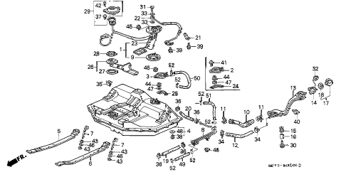 1991 INTEGRA GS 3 DOOR 5MT FUEL TANK diagram