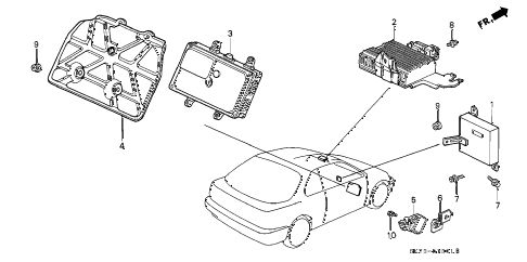 1992 INTEGRA RS 3 DOOR 5MT CONTROL UNIT diagram