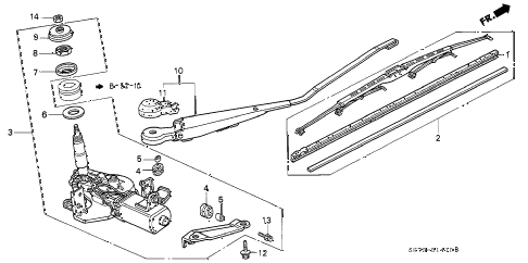 1992 INTEGRA GS 3 DOOR 5MT REAR WIPER diagram