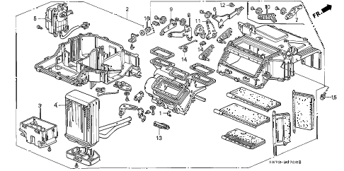 1991 INTEGRA GS 3 DOOR 4AT HEATER UNIT diagram